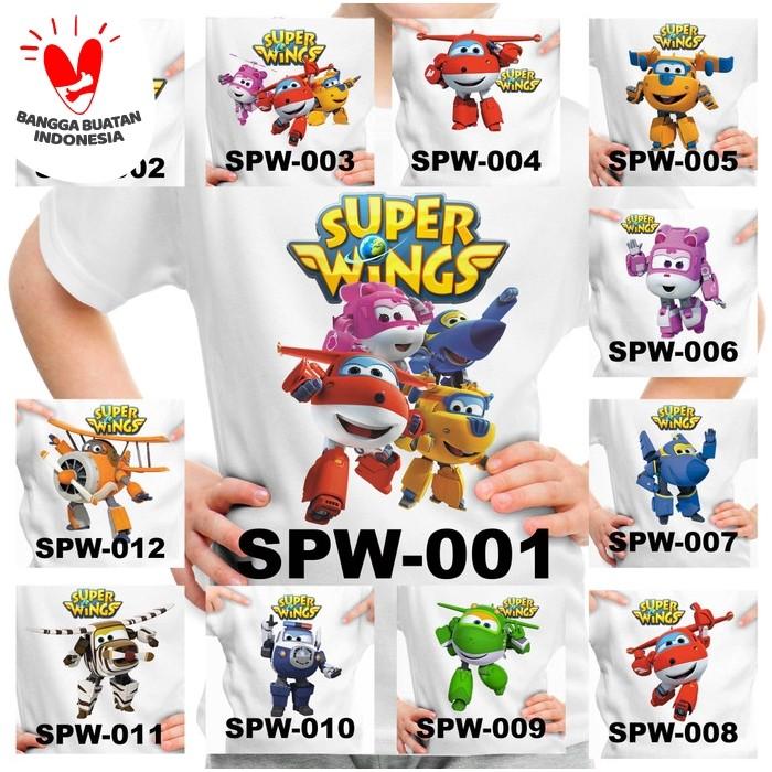 Foto Produk Kaos / Baju Anak Super Wings - 12 Motif/Design - dari Little Orca