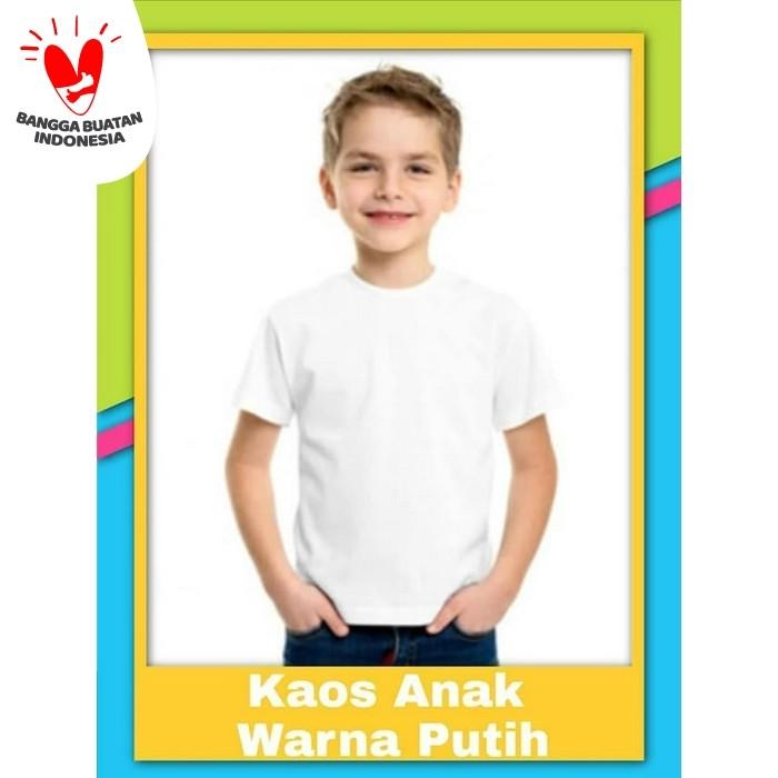 Foto Produk Kaos Polos Anak Putih dari Posikids