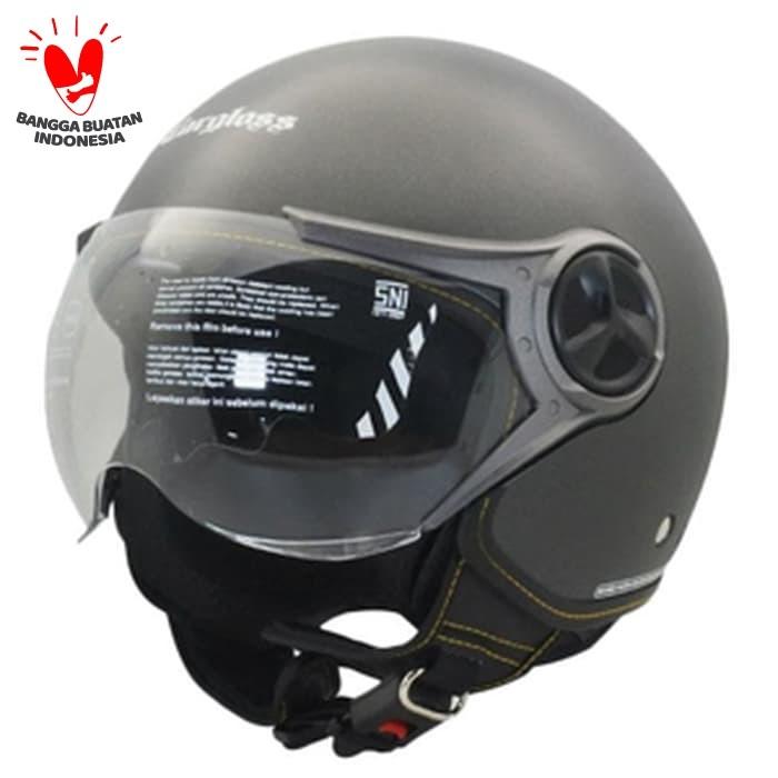 Foto Produk Cargloss YR Ghotic Helm Half Face - Gun Metal SG - Abu-abu, SIZE M dari Helm Cargloss
