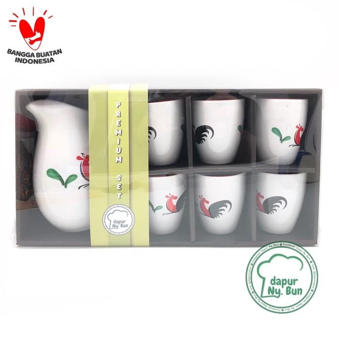 Foto Produk Set Water Jug & 6 Gelas Ayam Jago Seri 2 / Hampers /Gift/Paket Lebaran dari Dapur Ny.Bun