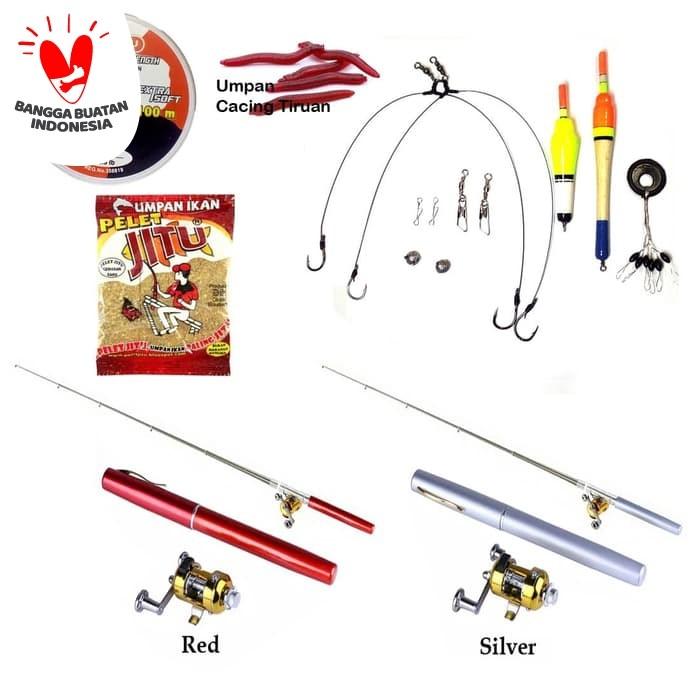 Foto Produk 1 Set Joran Pancing Pena Mini / Pancingan Pena Mini 1 Set dari Adskhan_Oshop