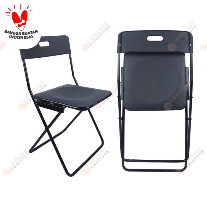 Foto Produk Kursi lipat / Makan / Kerja / Folding outdoor hitam dari Low Cost Furniture