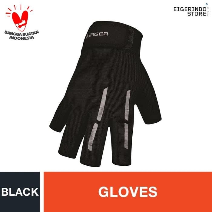 Foto Produk Eiger Riding Daily Half Glove - Black L dari Eigerindo Store