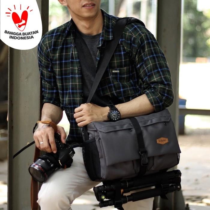 Foto Produk tas kamera eibag 1729 hitam - Abu-abu dari eibag-indonesia