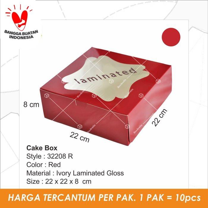 Foto Produk 32208 - Cakebox, dus, kotak, packaging, kotak kue - Merah dari Box Are Us