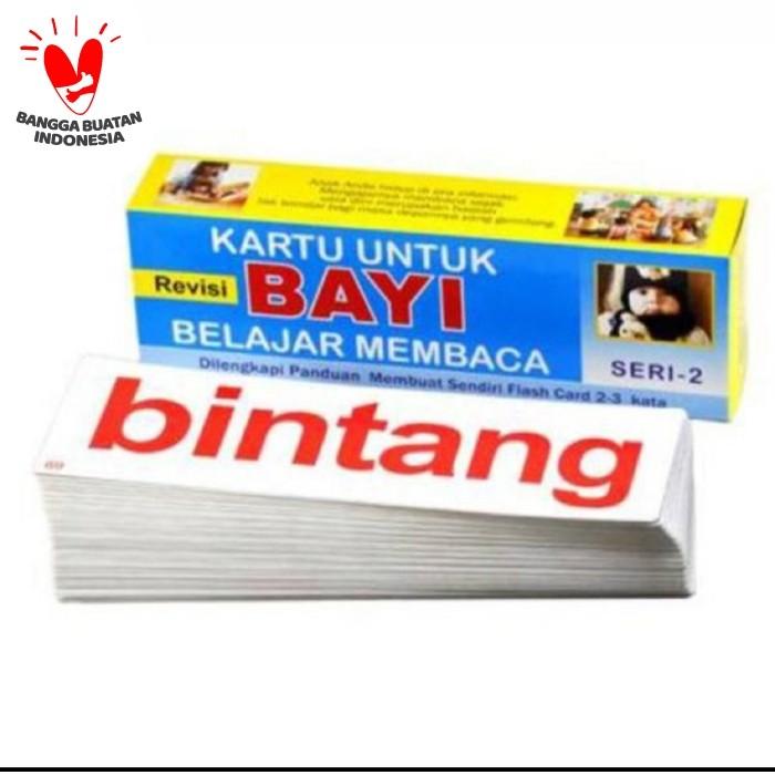 Foto Produk Kartu Pintar Flashcard bayi belajar membaca seri 2 dari Jaya Multi Kreasi