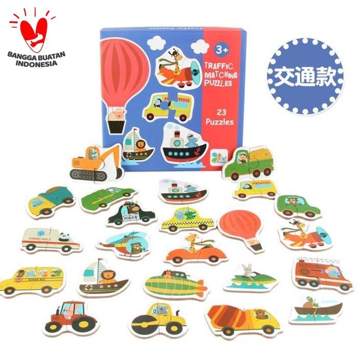 Foto Produk Puzzle Kayu / Jigsaw Puzzle / Matching Puzzle Lucu - TRANSPORT dari Jaya Multi Kreasi