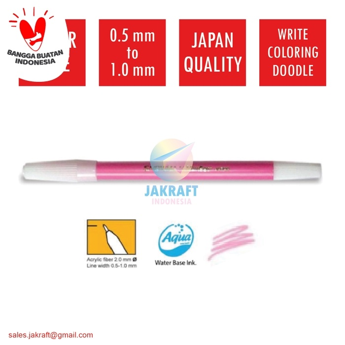 Foto Produk Spidol Kecil Warna (Merah Muda Pink) SNOWMAN PW-1A Artline Standard dari Jakraft Indonesia