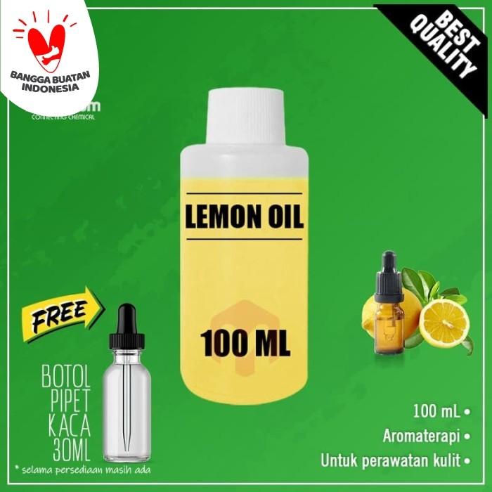 Foto Produk 100% Pure Lemon Essential Oil / Minyak Lemon Murni 100ml dari Maximum Chemical