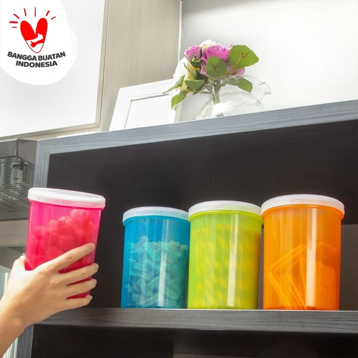 Foto Produk Claris Toples 1.3 Liter -BPA FREE 1934 SealnStor Can MULTICOLORS dari Enportu Home Living