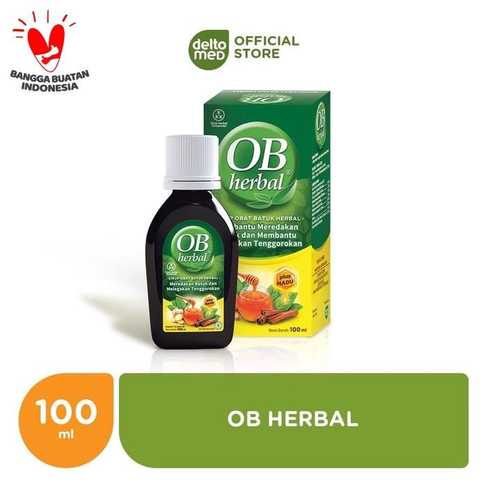 Foto Produk OB Herbal 100ml - Meredakan Batuk dan Menghangatkan Tenggorokan dari Deltomed Store
