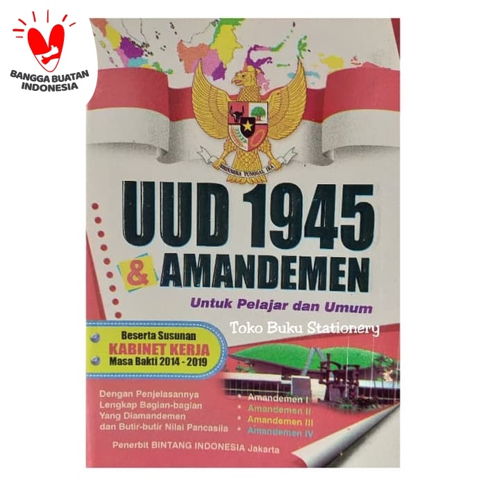 Foto Produk Buku UUD 1945 & Amandemen Lengkap/ Buku Undang-Undang 45 dari Toko Buku dan Stationery