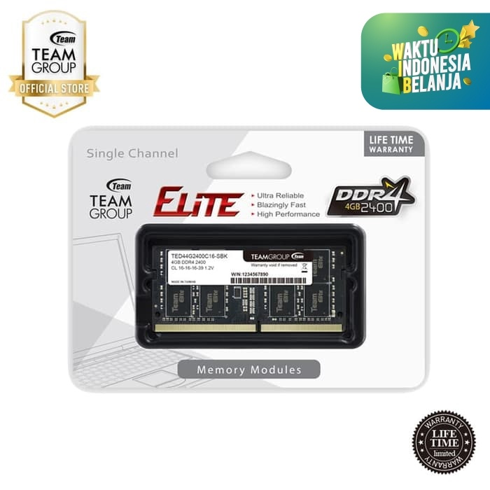 Foto Produk TEAMGROUP Memory Notebook 4GB PC 2400 DDR4 dari Teamgroup Official Store