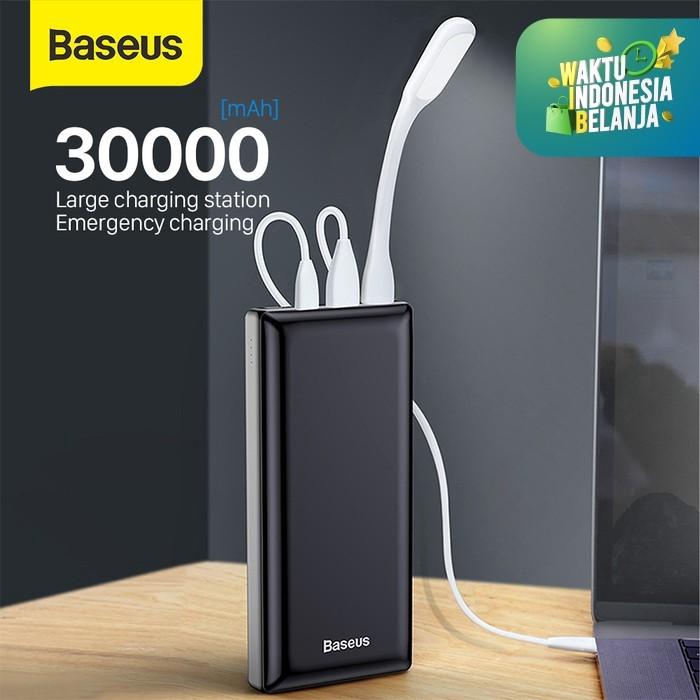 Foto Produk BASEUS MINI JA FAST CHARGING POWER BANK DUAL USB PD TYPE C - HITAM 30000MAH dari Baseus Official Store