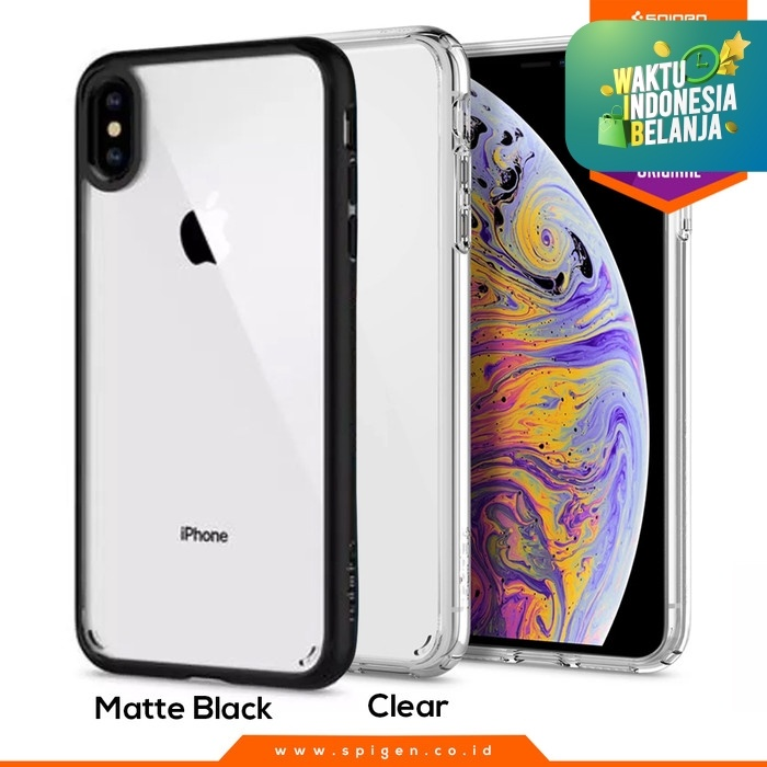 Foto Produk iPhone XS Max / XS / X / XR Case Spigen Clear Anti Shock Ultra Hybrid - Matte Black, XS dari Spigen Official