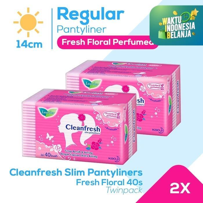 Foto Produk Laurier Pantyliner Cleanfresh 40S Perfume Twinpack dari KAO Official Store
