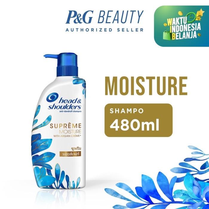 Foto Produk Head & Shoulders Shampoo Supreme Moisture Anti-Ketombe 480ml dari P&G Official Store
