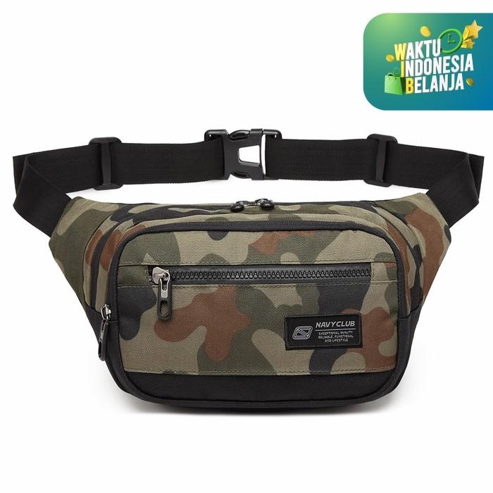 Foto Produk Navy Club Tas Pinggang Waist Bag Tahan Air - Tas Pria Tas Outdoor FJFJ - Hijau dari Navy Club Official Store