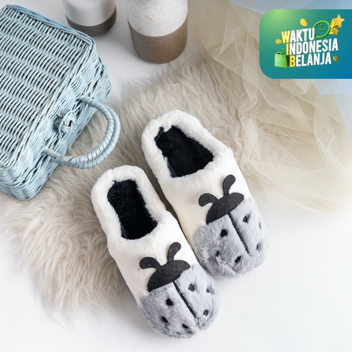 Foto Produk UCHII CHU Exclusive Kid Slippers Sandal Rumah Selop Kamar Anak Unisex - Dusty Blue, M dari uchii store
