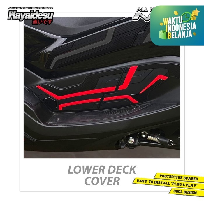 Foto Produk Hayaidesu All New NMAX 2020 Lower Deck Cover Variasi Body Protector - Merah dari Hayaidesu Indonesia