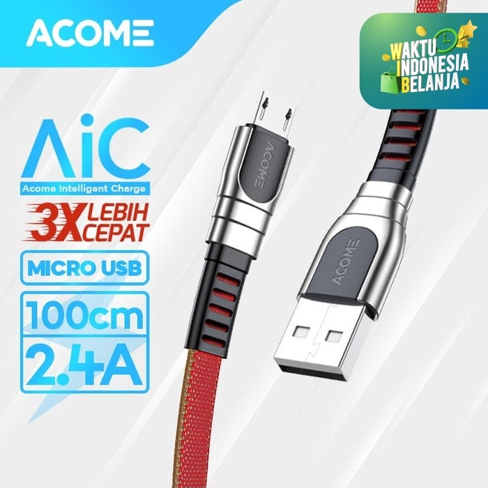 Foto Produk ACOME Kabel Data/Charger Micro USB Fast Charging 2.4A AKM-010 dari Acome Indonesia