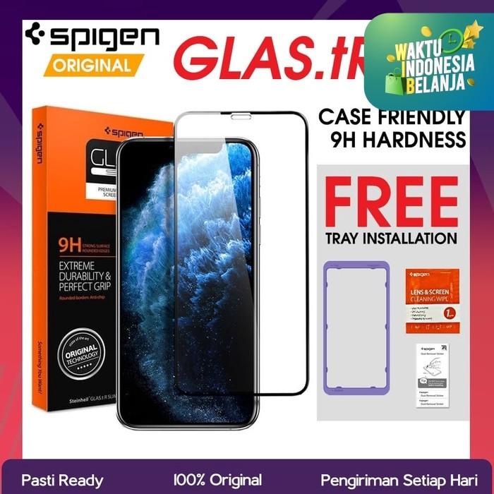 Foto Produk Spigen Full Tempered Glass iPhone 11 Pro Max / 11 Pro / 11 Original - iPhone 11 Pro dari GadkeyCom