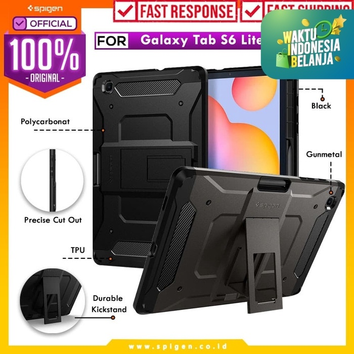 Foto Produk Case Samsung Galaxy Tab S6 Lite Spigen Tough Armor Pro Stand & Pencil - Black dari Spigen Official
