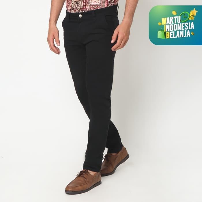 Foto Produk VENGOZ Celana Chino Pria Slim Fit - Black - Hitam,30 dari VENGOZ