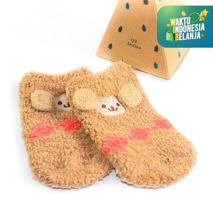 Foto Produk UCHII Baby Kids Animal Sock | Kaus Kaki Anak Bludru Cute Monkey Face - 2-4 Tahun dari uchii store