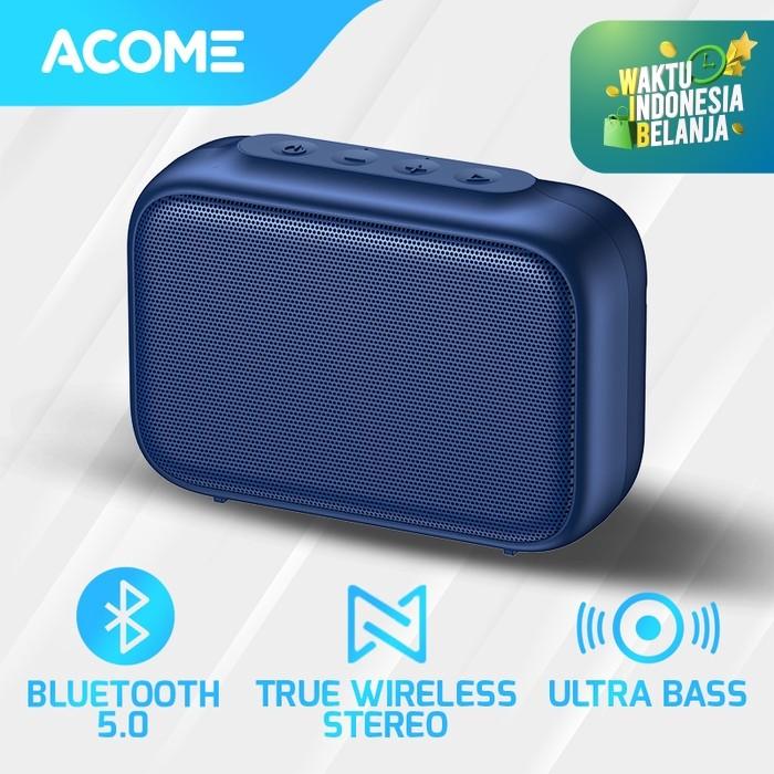Foto Produk Acome A1 SENSE Speaker Bluetooth 5.0 Portable Ultra Bass TWS - Speaker Only dari Acome Indonesia