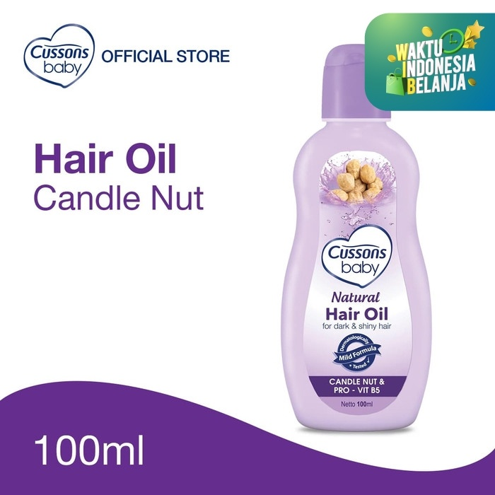 Foto Produk Cussons Baby Natural Hair Oil Candle Nut 100ml dari Cussons Official Store