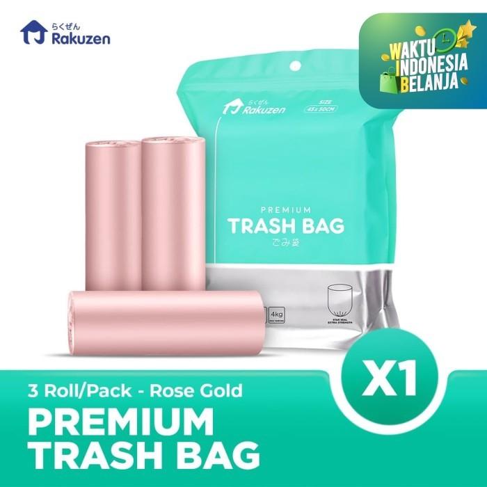 Foto Produk Rakuzen Premium Trash Bag Uk. 45 x 50 - Rose Gold dari Bagus Official Store