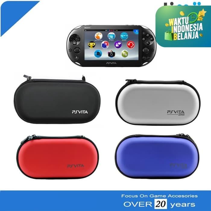 Foto Produk Tas Airfoam Pouch Dompet Bag PSVita PS Vita Merah Biru Hitam Silver dari Timur Game Shop