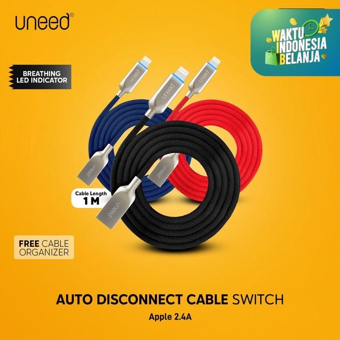 Foto Produk UNEED Switch Auto Disconnect Kabel Data Lightning - UCB21i - Biru dari Uneed Indonesia