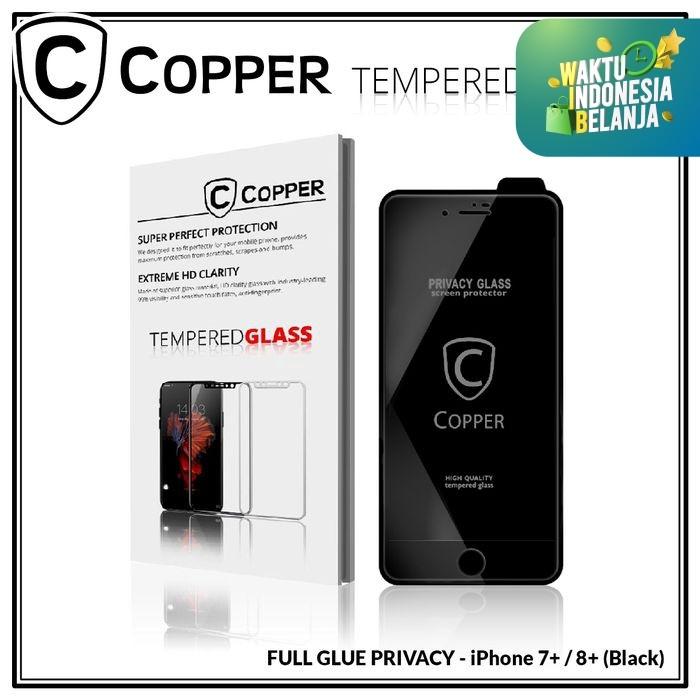Foto Produk Iphone 7+ / 8+ - COPPER Tempered Glass PRIVACY / ANTI SPY (Full Glue) - Putih dari Copper Indonesia