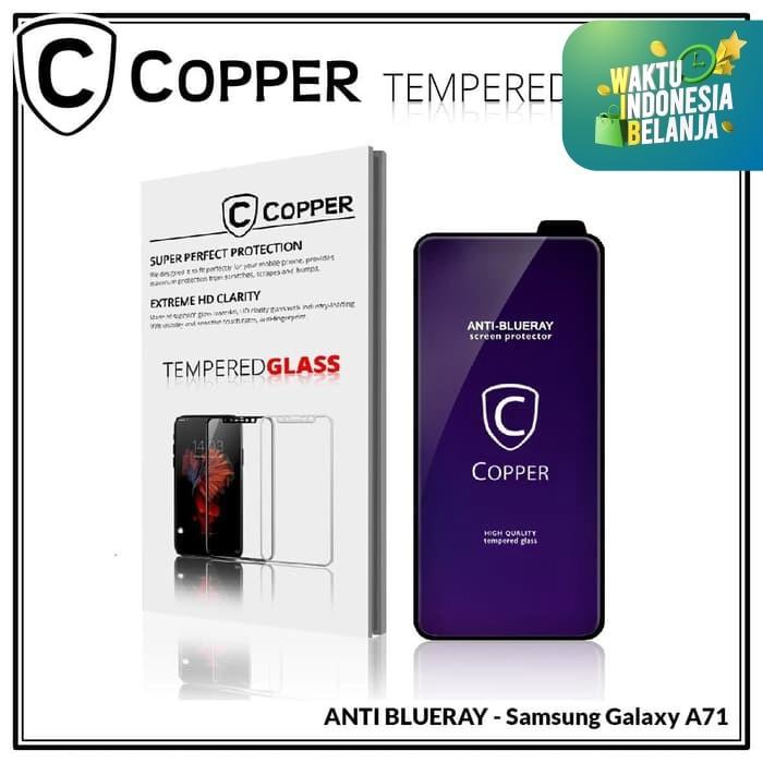 Foto Produk Samsung Galaxy A71 - COPPER Tempered Glass FULL BLUE RAY dari Copper Indonesia