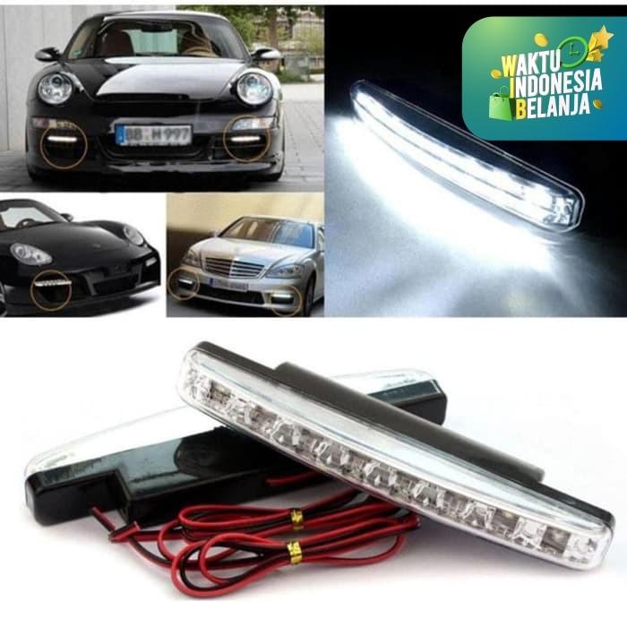 Foto Produk Lampu Fog Lamp Daytime Running Light DRL Mobil 8 LED 6000K 12V 1Pcs dari lbagstore