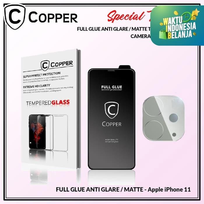 Foto Produk iPhone 11 - Bundling Tempered Glass GLARE + TG Kamera dari Copper Indonesia