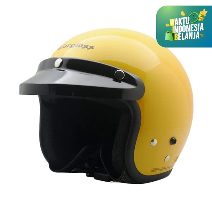 Foto Produk Helm Cargloss Retro Excotic Yellow - Kuning, SIZE XL dari Helm Cargloss