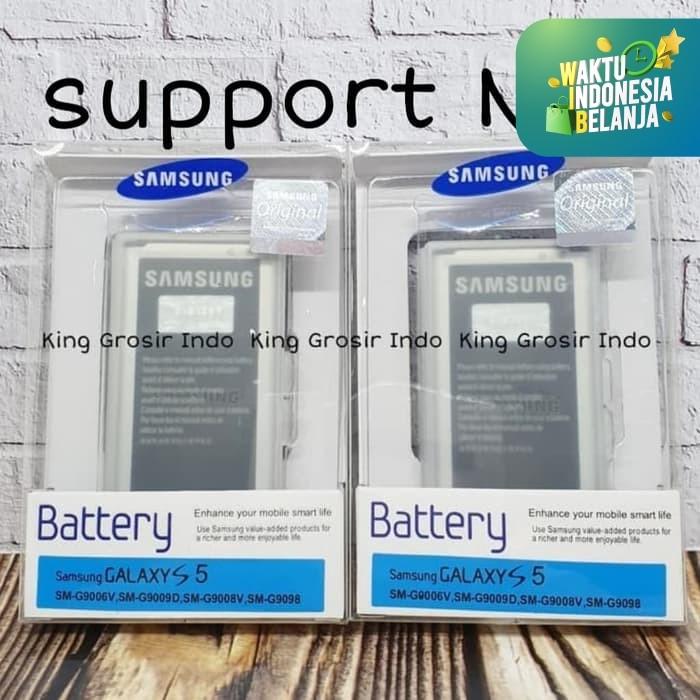 Foto Produk Baterai Samsung Galaxy S5 I9600 G900 Original 100% Battery Batre - Hitam dari King Grosir Indo