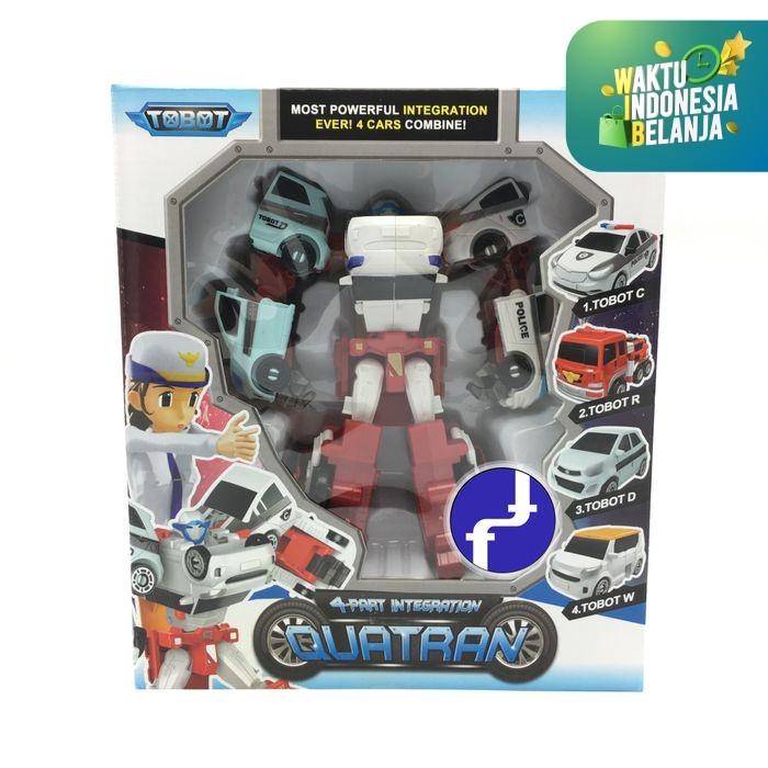 Foto Produk Mainan Anak Tobot Quatran Merah Putih 4in1 Transfomers Robot Mobil 518 dari Toko-Ku by FAS-TOP