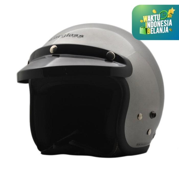Foto Produk Helm Cargloss CF Retro Silver Met - Sesuai difoto, SIZE M dari Helm Cargloss