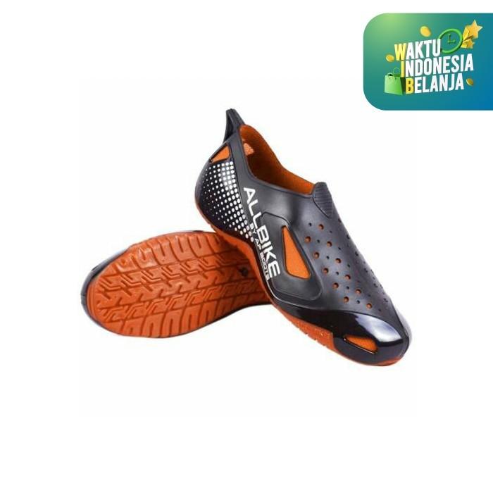 Foto Produk Sepatu Motor Biker ALL BIKE Orange Karet ALLBIKE Hitam Orange AP BOOTS - Orange, 40 dari lbagstore
