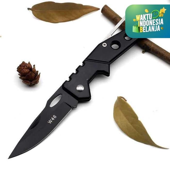 Foto Produk Pisau Saku Kecil Mini Lipat EDC Pocket Knife Tactical Survival Kit W46 dari lbagstore