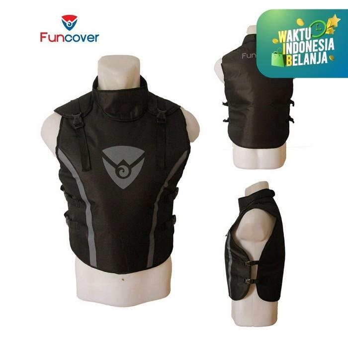 Foto Produk Rompi Premium Vest Funcover Protector Pelindung Dada Leher Motor V3 - Merah dari lbagstore