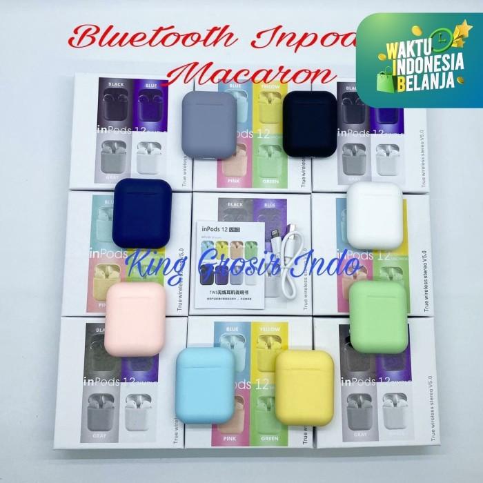 Foto Produk Inpods 12 Macaron Headset Bluetooth Warna Macaron Wireless Inpods i12 - Kuning dari King Grosir Indo