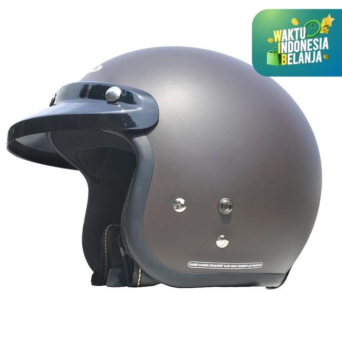 Foto Produk Cargloss Retro Army Helm Half Face - Espresso Brown - Cokelat, SIZE M dari Helm Cargloss