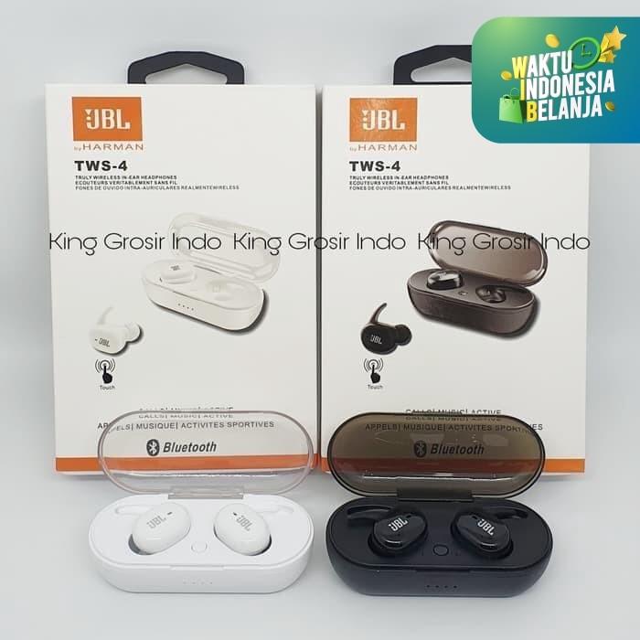 Foto Produk JBL TWS4 Headset Bluetooth , Wireless Earphone JBL TWS 4 , JBL TWS-4 - Hitam dari King Grosir Indo