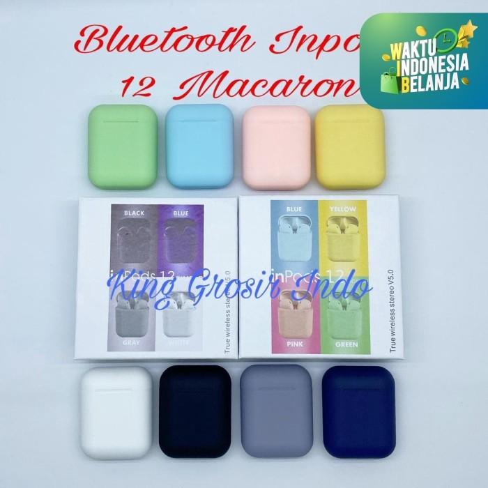 Foto Produk Inpods 12 Macaron Headset Bluetooth Warna Macaron Wireless Earphone - Kuning dari King Grosir Indo