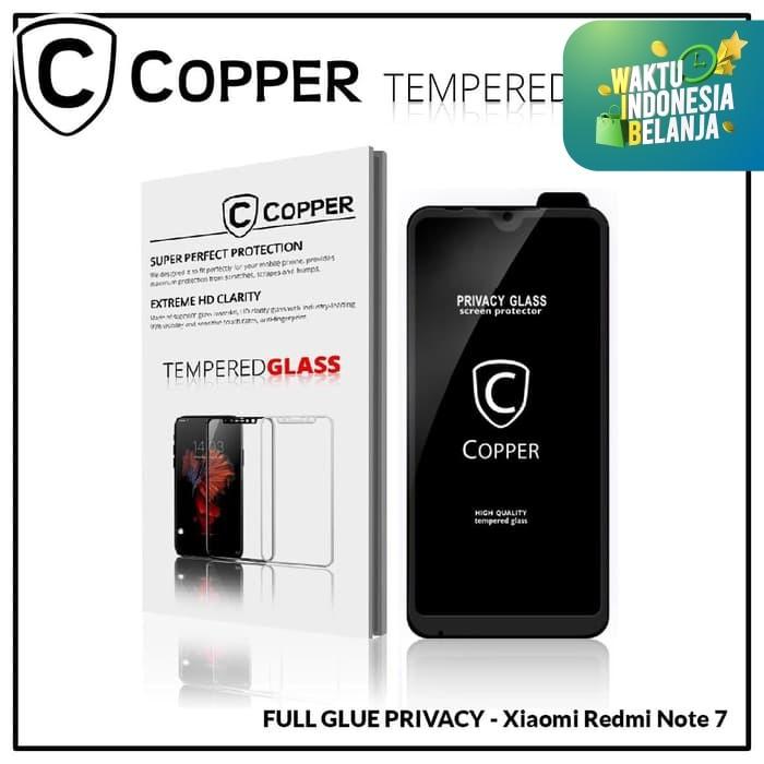 Foto Produk Xiaomi Redmi Note 7 - COPPER Tempered Glass PRIVACY ANTI SPY dari Copper Indonesia